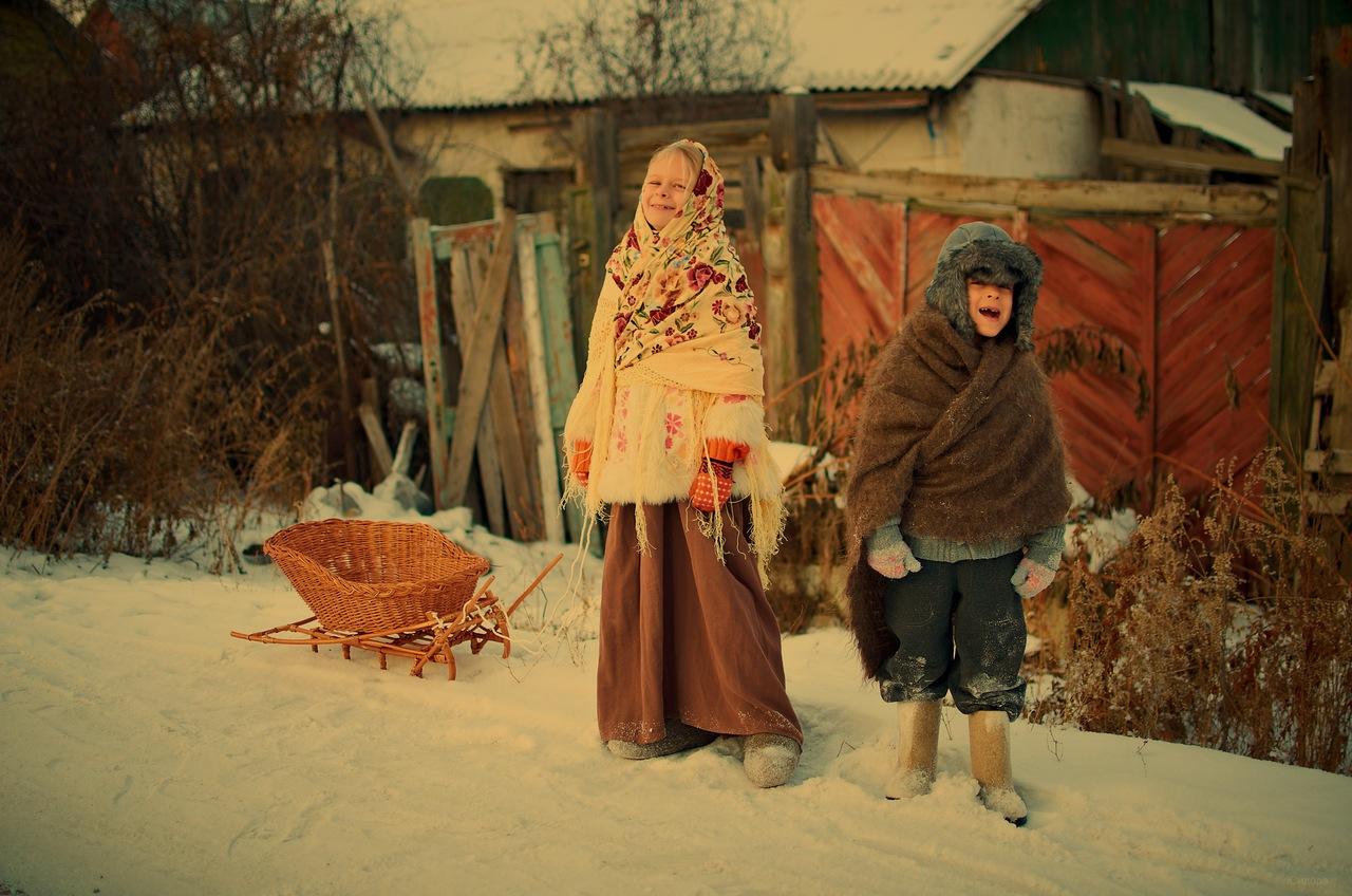Фото дети в павлопосадском платке